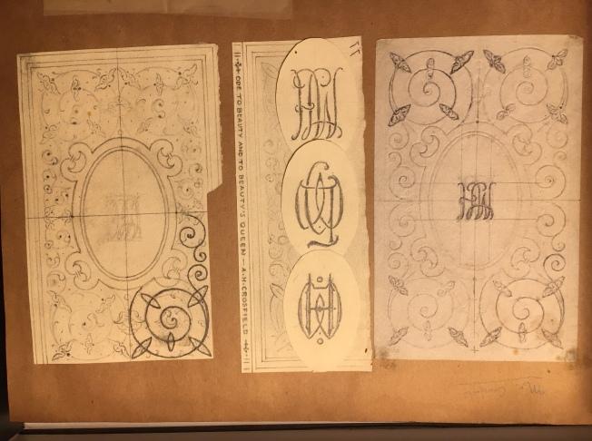 Monogram binding for Sir Crosfield