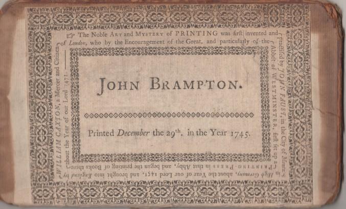 John Brampton book label